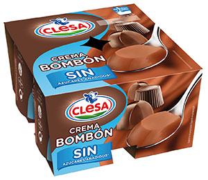 Nueva Crema Bombón sin azúcares añadidos de Clesa