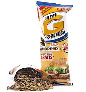 Nuevas pipas sabor whopper