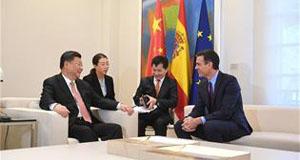 Encuentro entre Sánchez y Xi