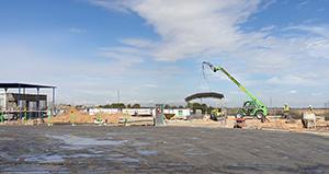 Obras de construcción de la planta de Uvesa